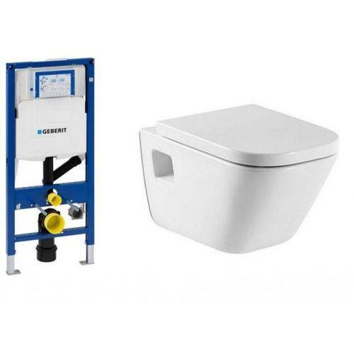 Stelaż GEBERIT Duofix UP320 Sigma H112 z miską WC i deską w/o ROCA GAP z kategorii Stelaże i zestawy podtynkowe