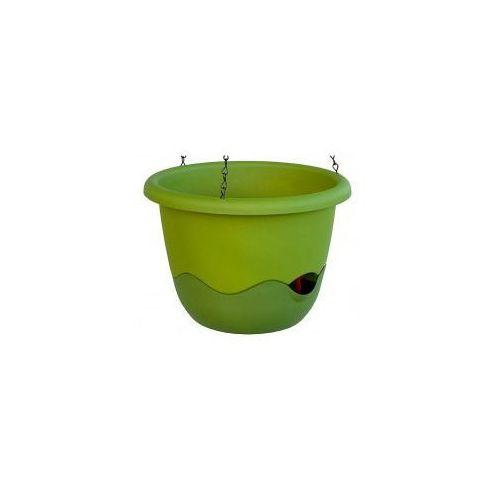 Donica z systemem nawadniania Mareta 25 zielony +ciemno zielony (8590415521464)