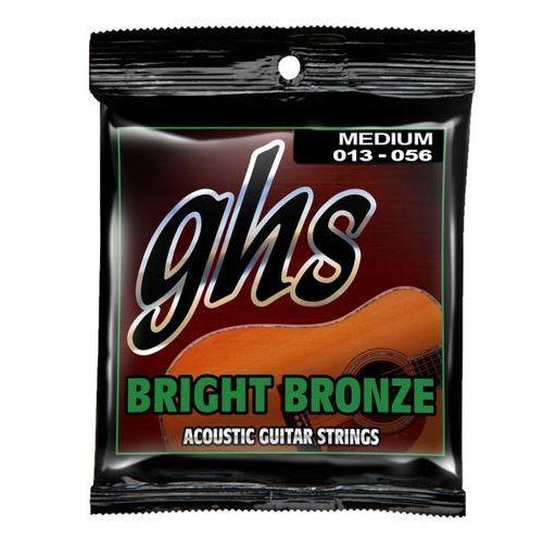GHS Bright Bronze struny do gitary akustycznej, 80/20 Bronze, Medium,.013-.056