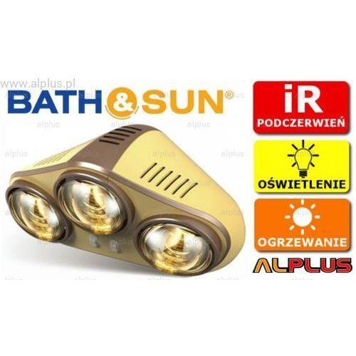 Panel łazienkowy BATH&SUN KOMFORT FB307D 2w1 grzejnik na podczerwień, oświetlenie Złoty WYSYŁKA GRATIS, B&S_KOMFORT_FB307_zloty