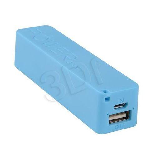 Power Bank Bateria zewnętrzna do smartfona, 2600mAh, Blue