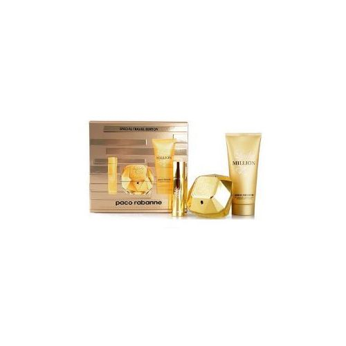 lady million woda perfumowana 80 ml + miniaturka 10 ml +balsam do ciała 100 ml marki Paco rabanne