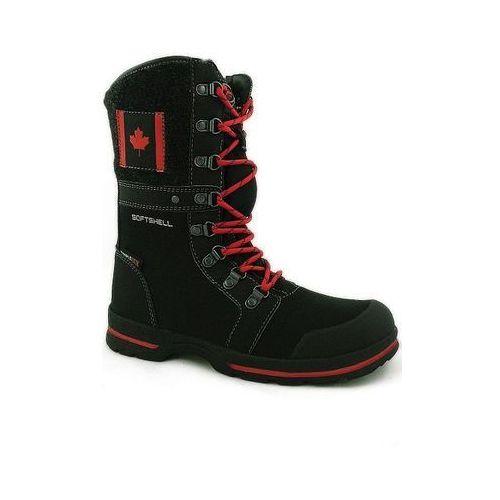Śniegowce damskie Softshell 101SB950 czarne czarny 40