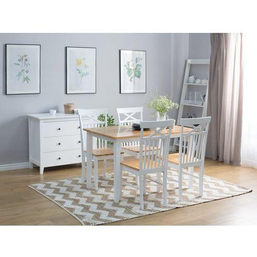 Stół do jadalni drewniany biały 120 x 75 cm HOUSTON (4260586355352)