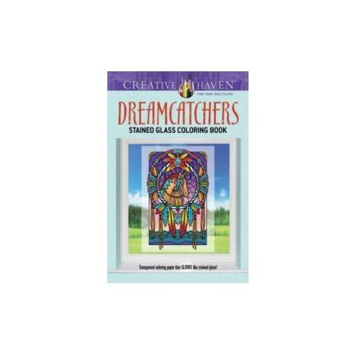 Creative Haven Dreamcatchers Stained Glass Coloring Book, Noble, Marty