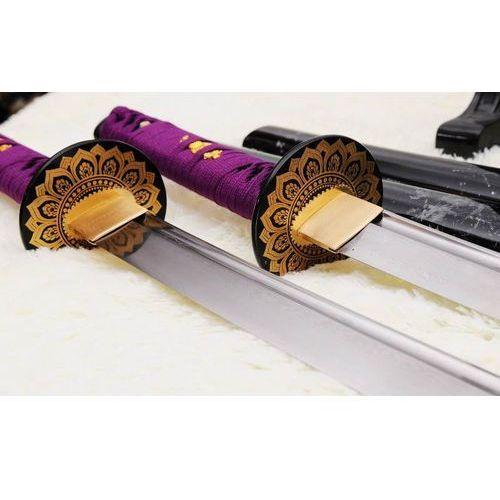 Zestaw mieczy japońskich samurajskich katan i wakizashi do treningu, stal warstwowana damasceńska, r828 marki Kuźnia mieczy samurajskich