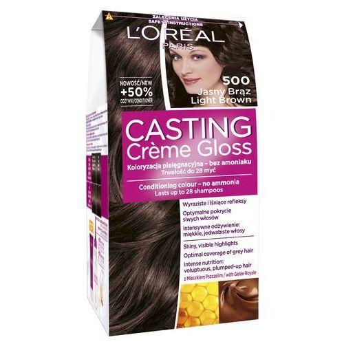 L'Oreal Paris, Casting Creme Gloss. Farba do włosów, 500 Jasny brąz - L'Oreal Paris