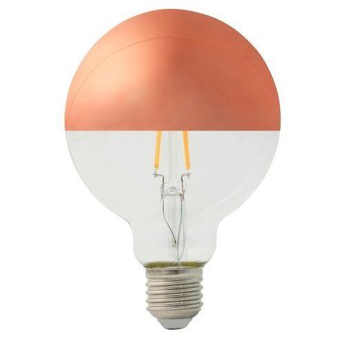 Żarówka lustrzana LED Diall G95 E27 5 W 470 lm przezroczysta barwa ciepła miedziana