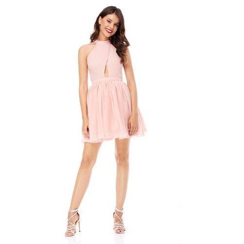 Sugarfree Sukienka plumeria w kolorze brzoskwiniowym