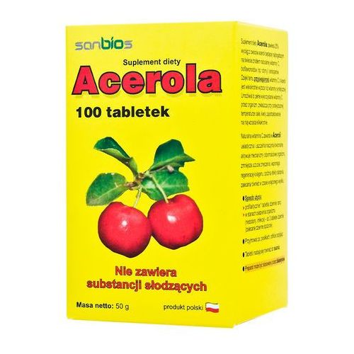 Acerola 500mg 100 tabletek - oferta [054d217257615250]