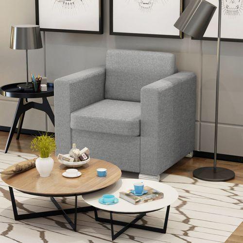 fotel tapicerowany jasnoszary marki Vidaxl
