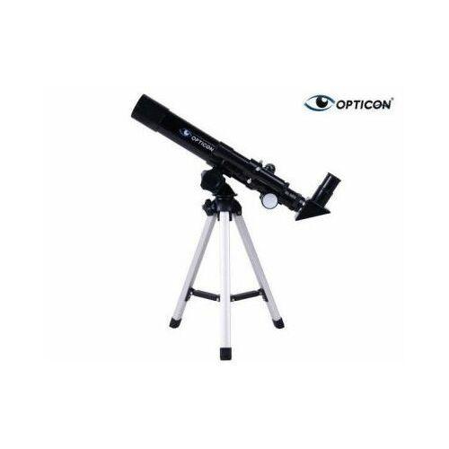 Opticon Teleskop astronomiczny finder + statyw + płyta dvd + mapy/plakaty układu słonecznego itd.
