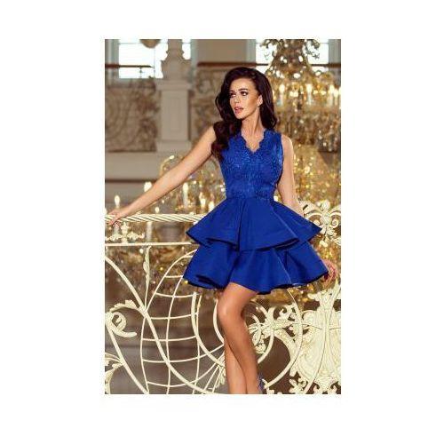 d35b52b6912711 200-7 charlotte - ekskluzywna sukienka z koronkowym dekoltem - chabrowa,  Numoco 279,98 zł Charlotte - elitarna sukienka na nieszablonowe okazje -  bogato ...