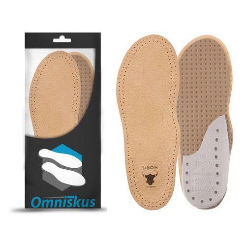 Skórzane wkładki do butów na ostrogi piętowe marki Omniskus