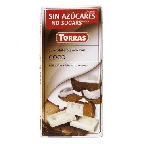 Czekolada biała z kokosem bez dodatku cukru 75g TORRAS