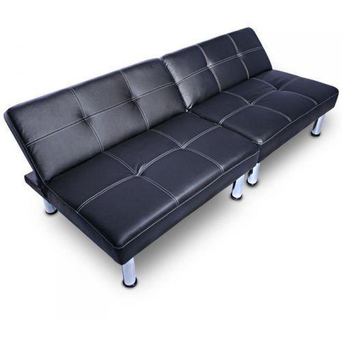 Jago Nowoczesna sofa kanapa rozkładana czarna