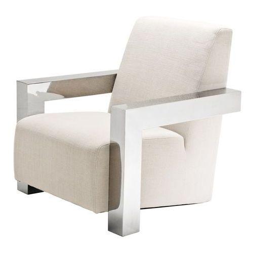 EICHHOLTZ Fotel Franco beż 84x85 H.85 tkanina stal nierdzewna polerowana - 09109 z kategorii fotele
