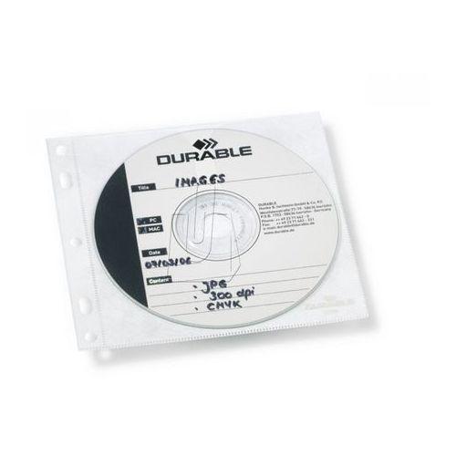 Durable Kieszonki cd/dvd cover file z wyściółką ochronną na 1 płytę 10 sztuk 5239 19