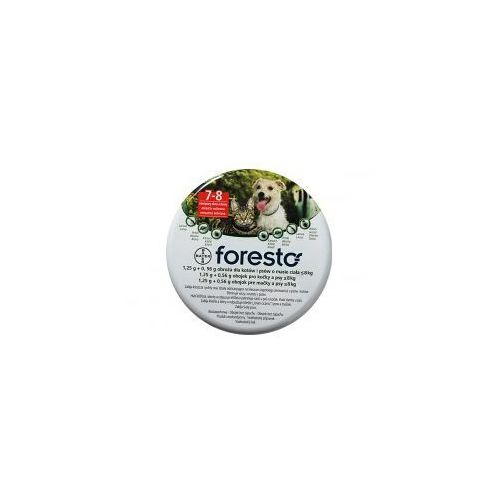 BAYER Foresto - Obroża obroża przeciw pchłom i kleszczom dla kotów i małych psów (dł. 38cm), produkt marki Bayer