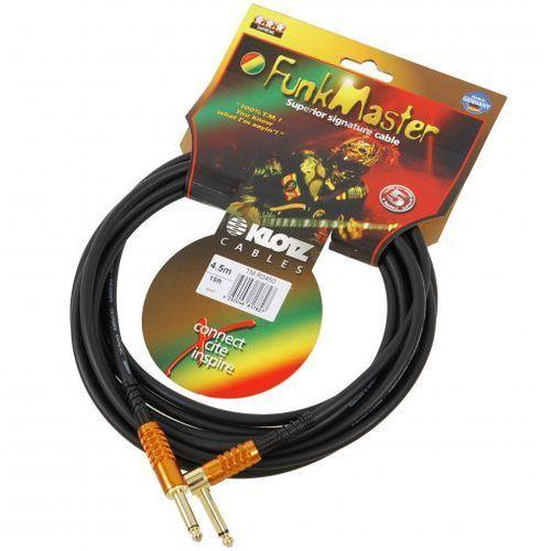 tm-r0450 funk master kabel gitarowy 4,5m, jack-jack kątowy, pozłacane wtyki marki Klotz