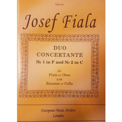fiala, j. duo concertante no.1 in f and no 2.2 in c marki Pwm