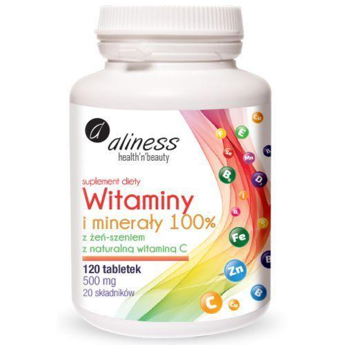 - witaminy i minerały 100% - 120tabs marki Aliness