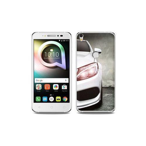 Alcatel Shine Lite - etui na telefon Foto Case - biały samochód, kolor biały