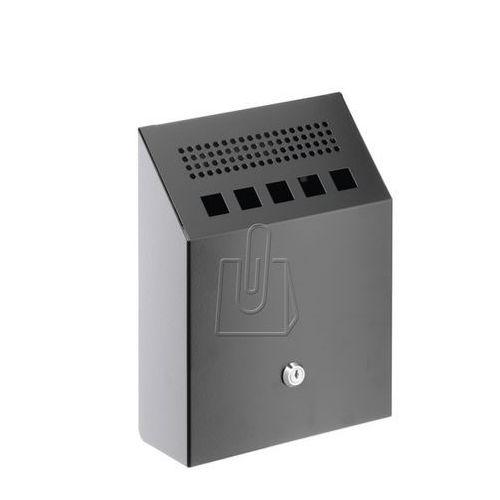 Popielnica naścienna metalowa czarna 3333 01 marki Durable