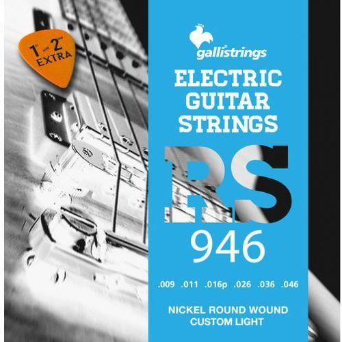rs946 - struny do gitary elektrycznej +gratis marki Galli