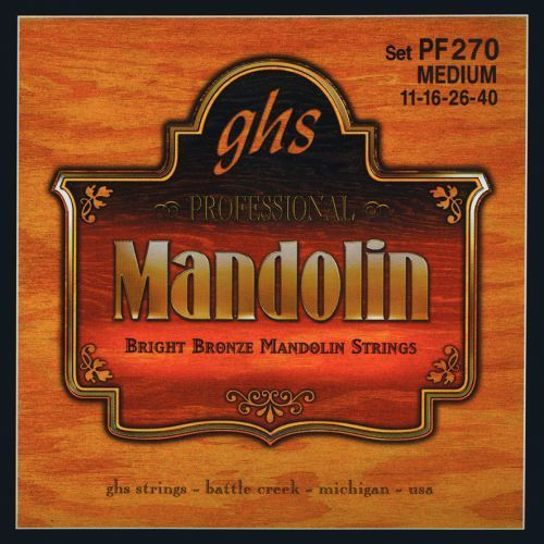 professional struny do mandoliny, loop end, bright bronze, medium,.011-.040 marki Ghs