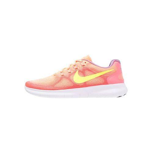performance free run 2 obuwie do biegania neutralne sunset glow/volt/hot punch/violet, Nike, 36-37.5