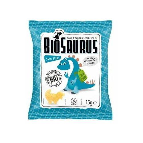 Chrupki kukurydziane z solą morską bezgl. bio 15 g biosaurus - marki Cibi