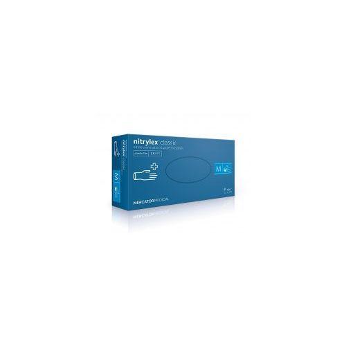"""Mercator Rękawice nitrylowe bezpudrowe nitrylex® classic """"xs"""" 100szt. (5906615101291)"""