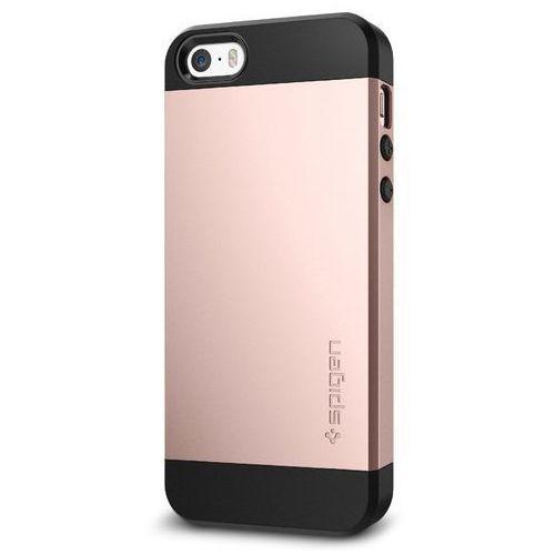 Etui Spigen iPhone SE/5S/5 Case Slim Armor Rose Gold 041CS20176 (8809466643552)