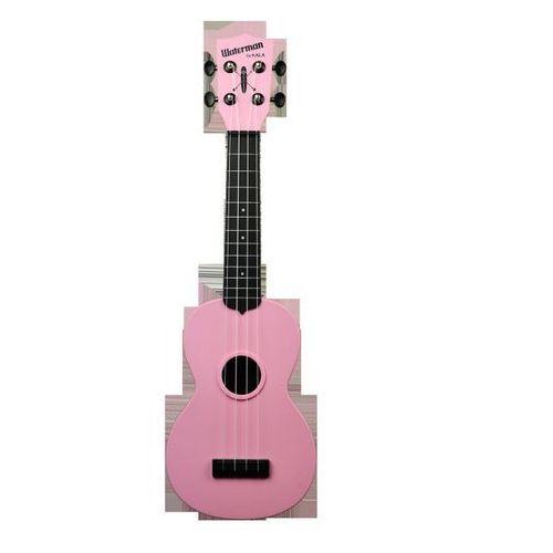 Kala ka-swb-pk waterman, ukulele sopranowe z pokrowcem, czarno różowy