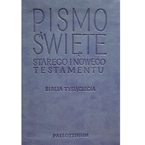 Pismo Święte Starego i Nowego Testamentu - Biblia Travel ekoskóra jasnoniebieska, Pallottinum