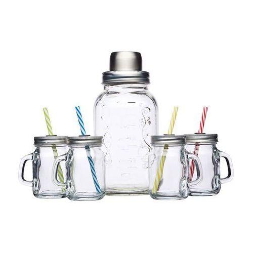 Kitchen craft Shaker szklany z czterema mini słoiczkami z uchwytem -  (5028250589606)