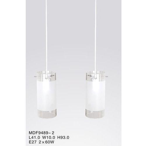 Lampa wisząca blend mdf9489/2 szklana oprawa zwis tuby przezroczyste białe marki Italux