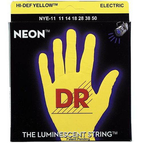 DR NEON Hi-Def Yellow - struny do gitary elektrycznej, 7-String Medium Heavy,.011-.060