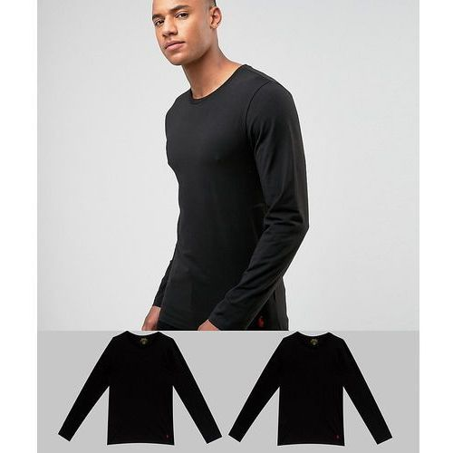 Polo Ralph Lauren 2 Pack Long Sleeve Top Stretch Slim Fit in Black/Black - Black, kolor czarny