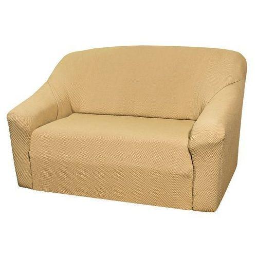 pokrowiec multielastyczny na sofę, beżowy elegant, 140 - 180 cm, 140 - 180 cm marki 4home