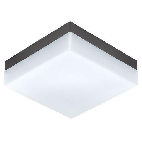Eglo Kinkiet sonella 94872 lampa ścienna sufitowa plafon 1x8,2w led ip44 biały/antracyt