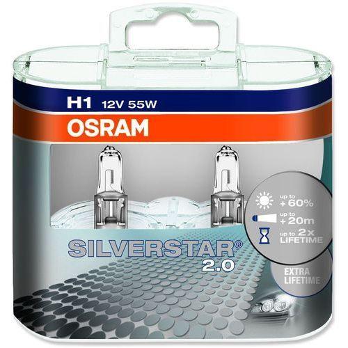 Osram żarówki samochodowe Silverstar H1 12V 55W - 2 sztuki, O-64150SV2-HCB