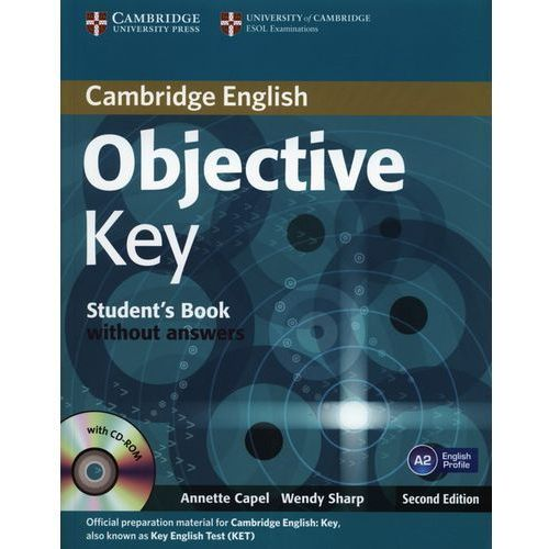 Objective Key, Second Edition, Student's Book (podręcznik) without Answers with CD-ROM, Cambridge University Press