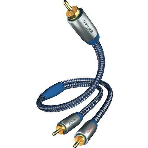 Inakustik Kabel audio, cinch 0040803, [2x złącze męskie cinch - 1x złącze męskie cinch], 3 m, niebieski, srebrny