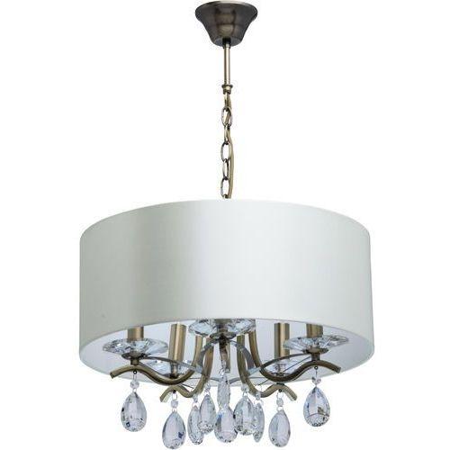 Romantyczny żyrandol do salonu mosiężna konstrukcja elegance (454010905) marki Mw-light