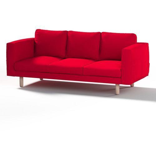 Dekoria pokrowiec na sofę norsborg 3-osobową, czerwony, sofa norsborg 3-osobowa, etna