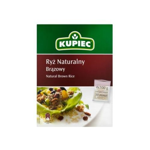 Ryż naturalny brązowy 4x100 g marki Kupiec