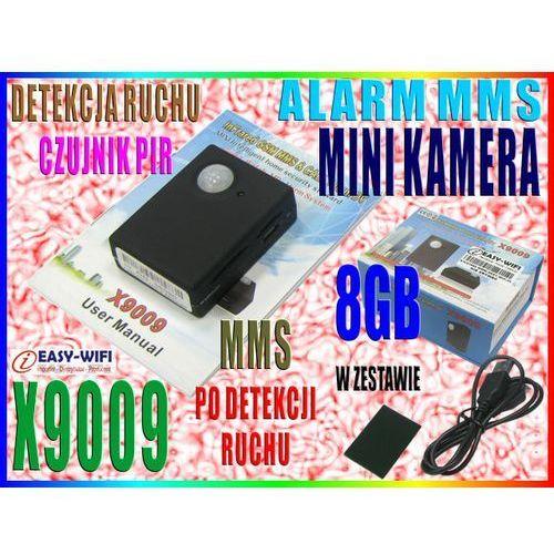 X9009 KAMERA ALARM MMS DETEKCJA RUCHU PIR PODSŁUCH CALLBACK + 8GB (kamera monitoringowa)
