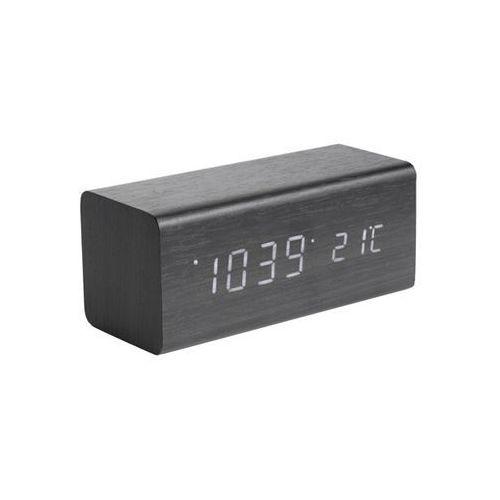 Zegar stołowy, budzik block black, white led by marki Karlsson